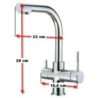 Osmosis domestica compacta y Grifo de 3 vias
