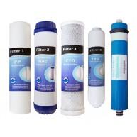 Jeux 4 filtres + membrane 50 GPD osmose inverse universal